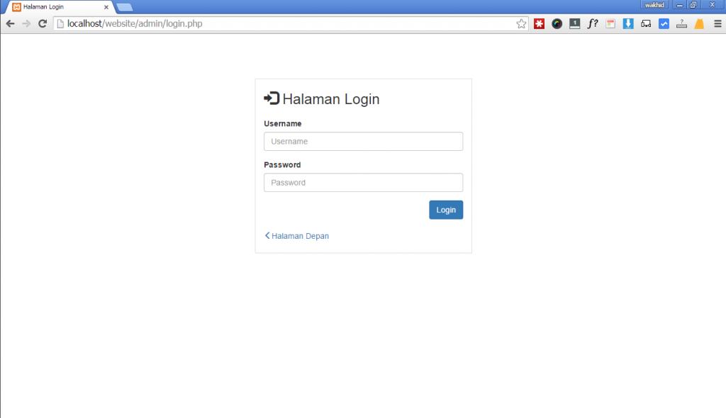 membuat halaman login dengan php bootsrtap