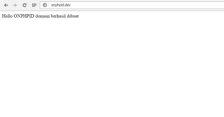 cara membuat domain sendiri di XAMPP
