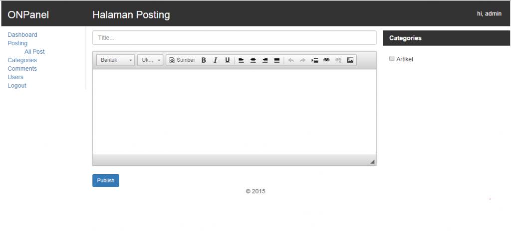 cara membuat halaman posting