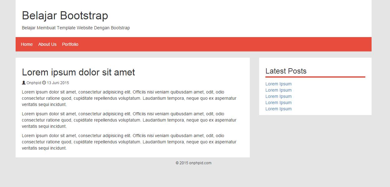 Belajar Membuat Template Web Menggunakan Bootstrap