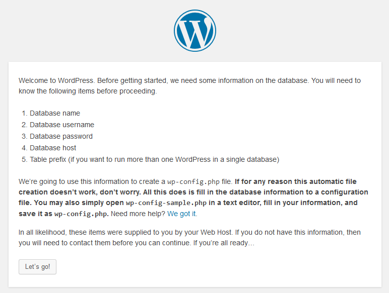installasi wordpress di xampp step 1