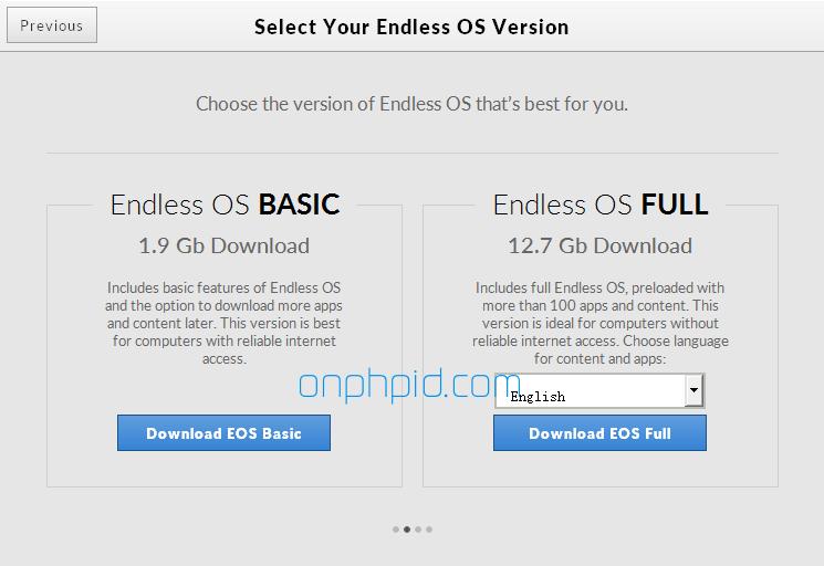 choose version endless os